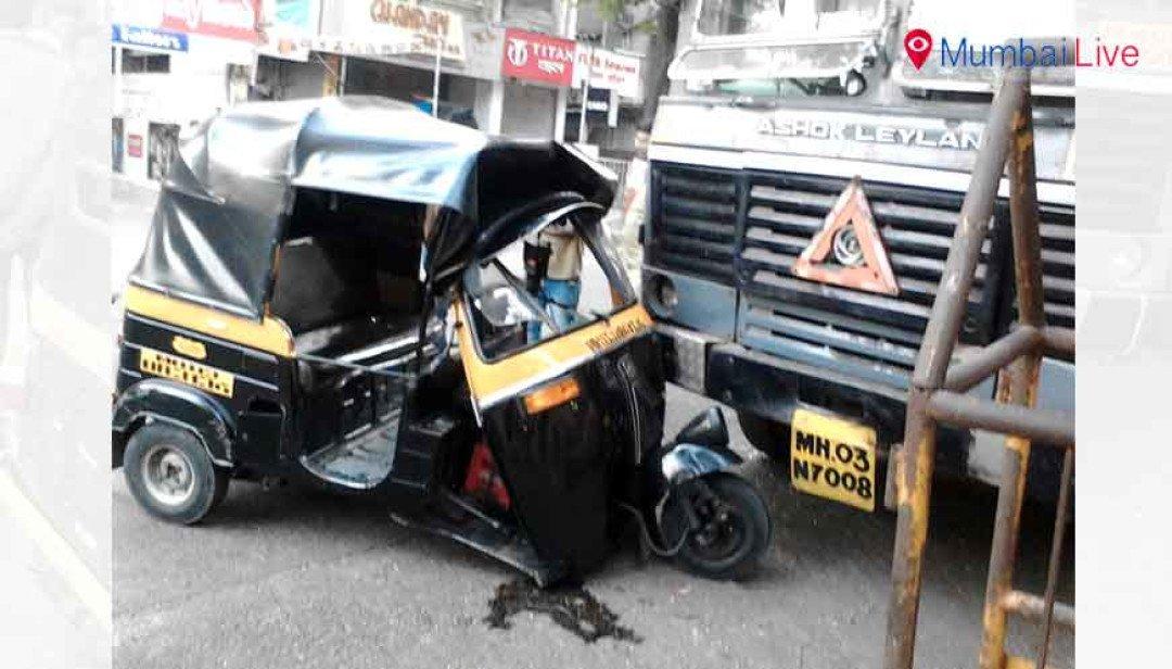 Autorickshaw-driver injured in accident