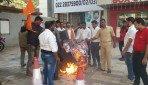 Sambhaji Brigade burns ADHM posters