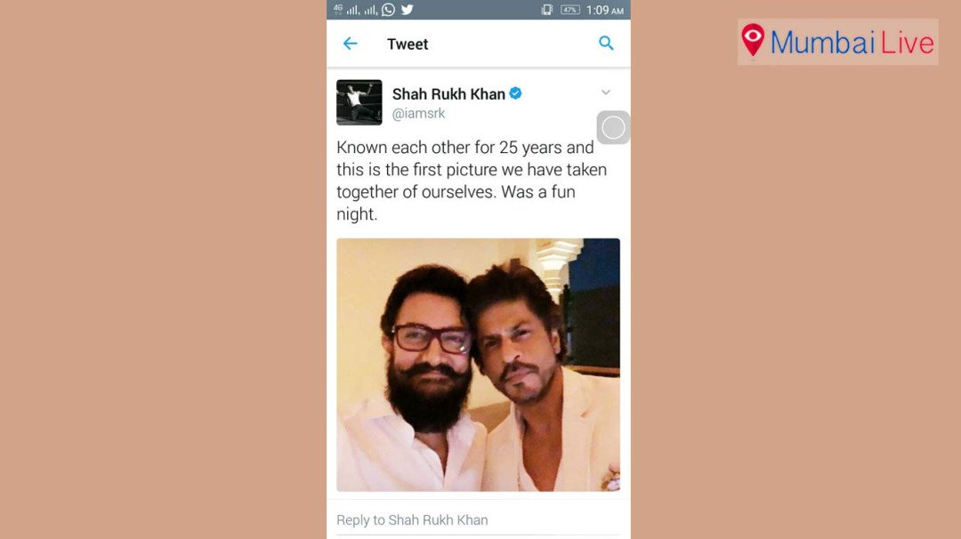 SRK and Aamir in one frame
