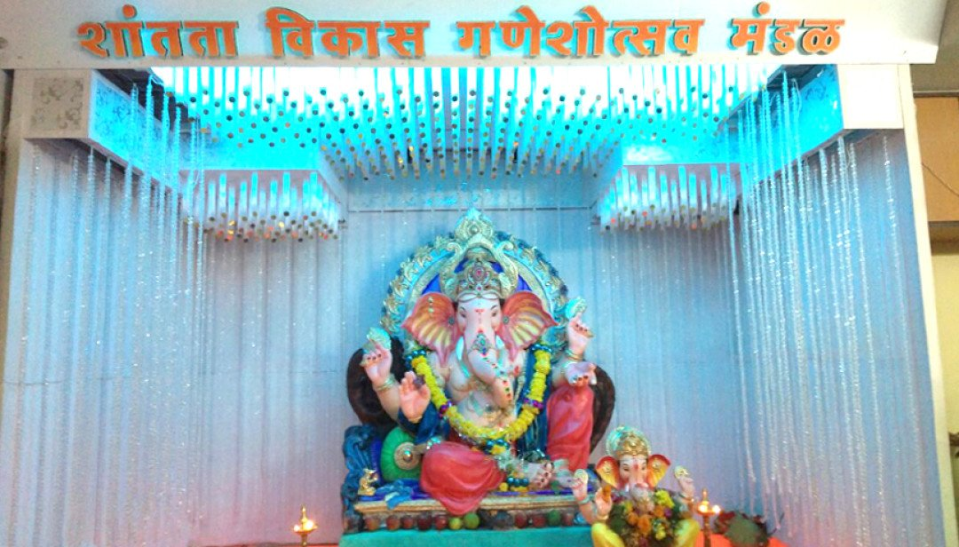 This society celebrates Ganesh festival in peace