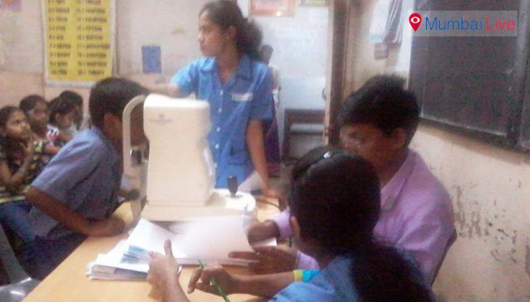 Eye checkup camp for students