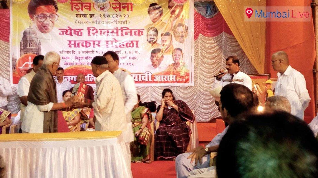 Shiv Sena honours senior party workers
