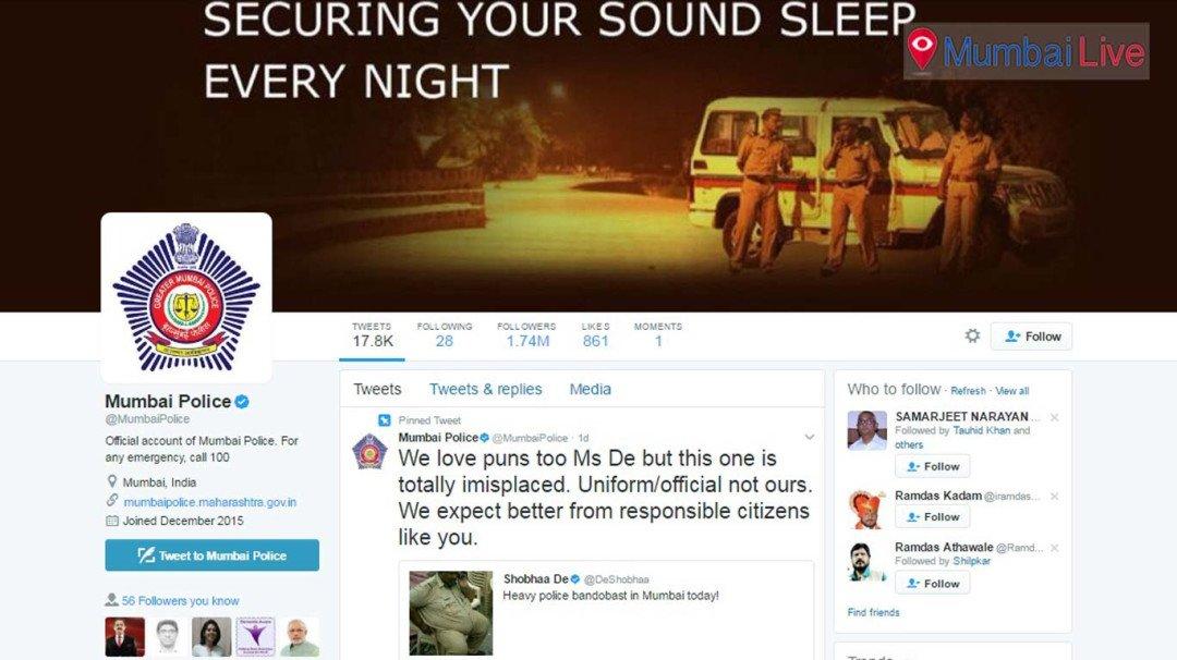 शोभा डे को मुंबई पुलिस का ये जवाब आप को भी कर देगा हैरान