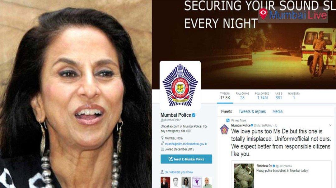 Mumbai Police troll Shobha De