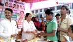 Party workers celebrate Sonia's birthday