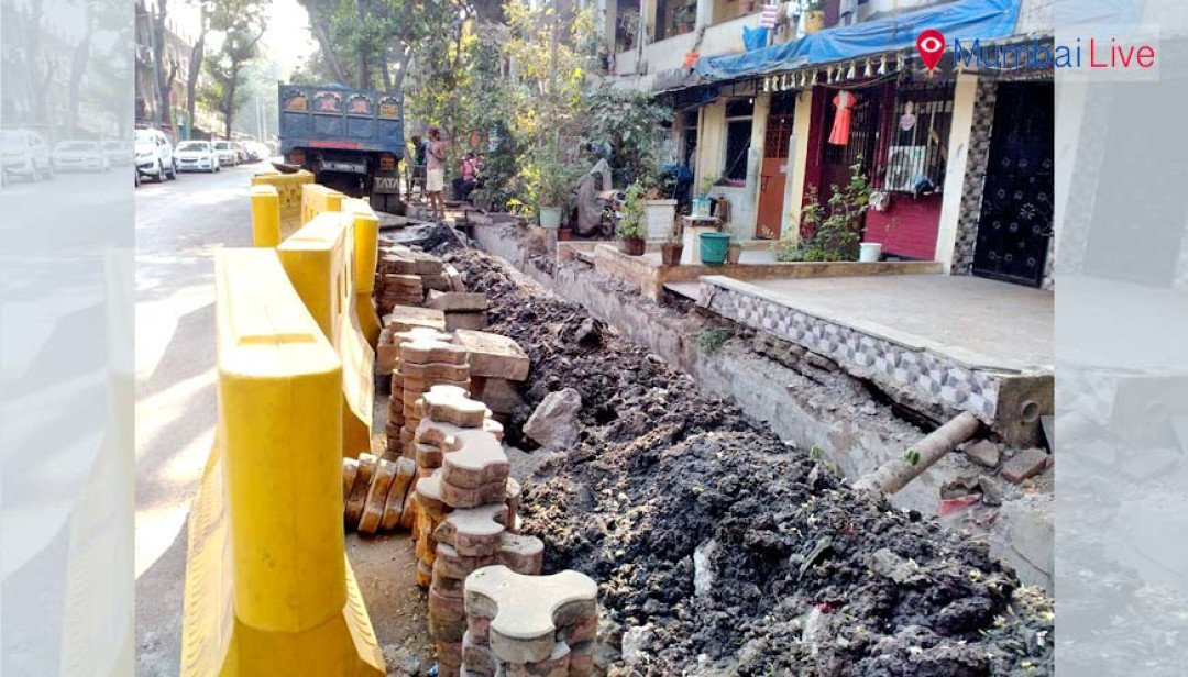 BMC rebuilds footpath, residents fume