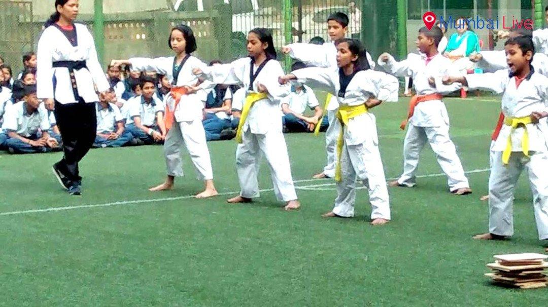 ताइक्वांडो में विद्यार्थियों ने दिखाया दम