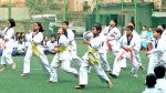 Students perform 'Taekwondo' on R-Day