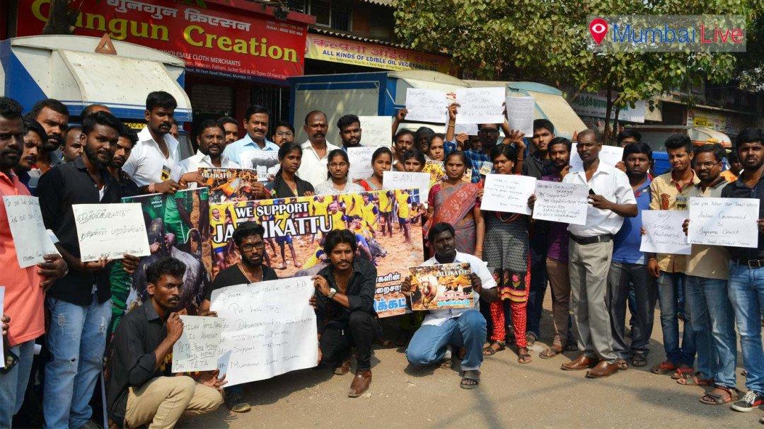 Protest against PETA