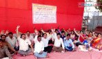 Teachers indefinite stroke at Azad Maidan