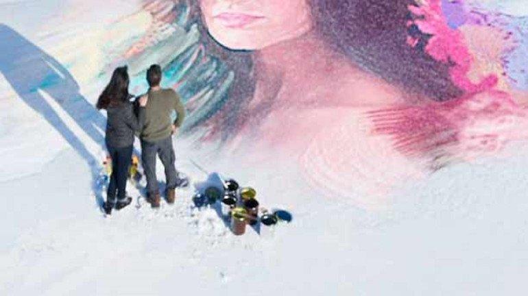 सलमान खाननं बॉलिवूडच्या 'या' अभिनेत्रीचं बर्फावर काढलं पेंटींग