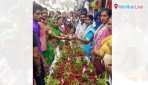 Tulsi sapling distributed in Kokri depot area