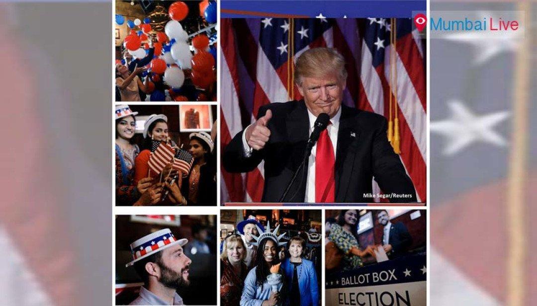 US president elected -celebrations in Mumbai