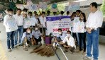 NSS students cleaned up Wadala station