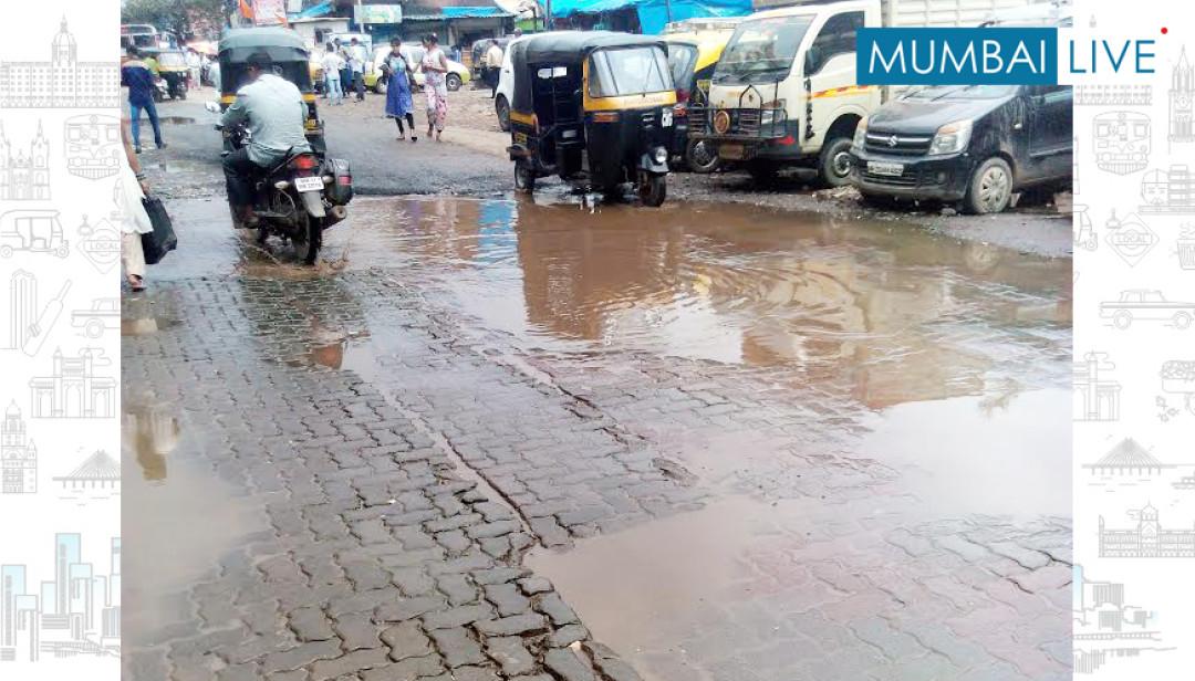 Bandra riddled with Potholes