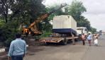 BMC 'razing drive' on Vikhroli Western Express Highway
