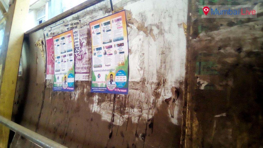 Wadala skywalk in bad condition