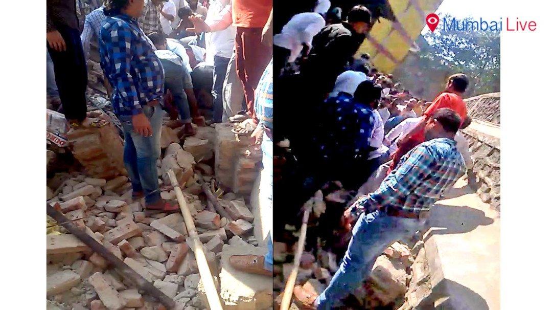 दीवार गिरने से एक की मौत दो घायल