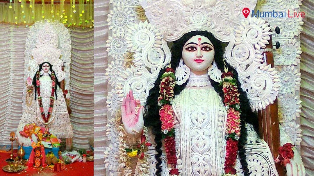Saraswati Puja celebration in Worli