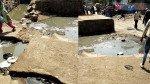 गटाराचं पाणी रस्त्यावर