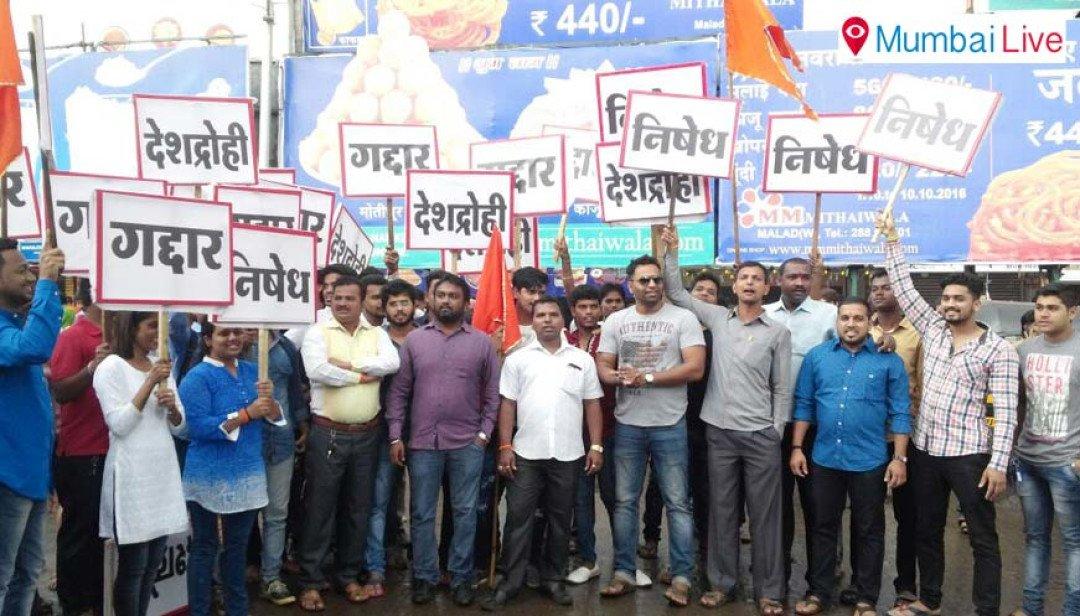 Yuva Sena protests against Nirupam