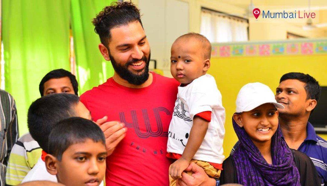 Yuvraj celebrates Christmas with kids