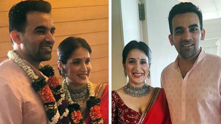Chak De! India actress Sagarika Ghatge and Indian Cricketer Zaheer Khan tie the knot